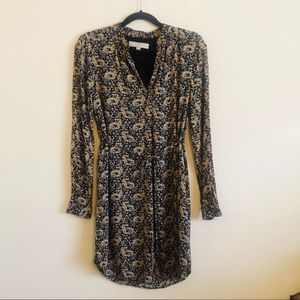 Ann Taylor Loft Long Sleeve Dress w/ Flower Print